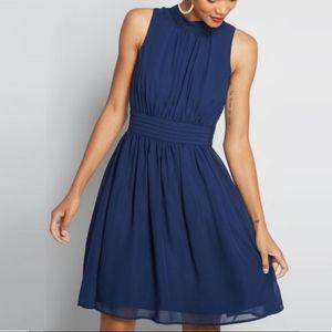Modcloth Fervour Navy Windy City Dress